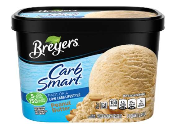 Breyer's Carb Smart Peanut Butter Ice Cream