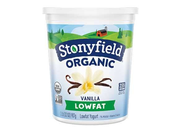 Stonyfield Organic Low Fat Smooth & Creamy Vanilla Yogurt